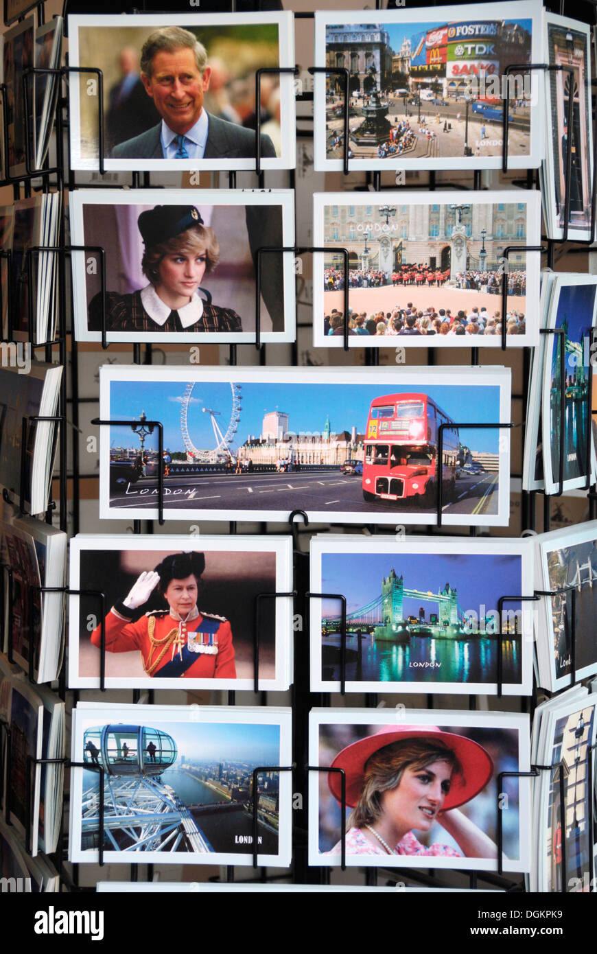 London postcards. - Stock Image