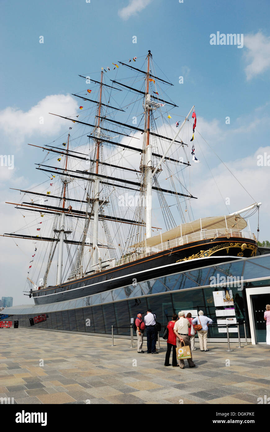 The Cutty Sark ship after its restoration lasting six years. - Stock Image