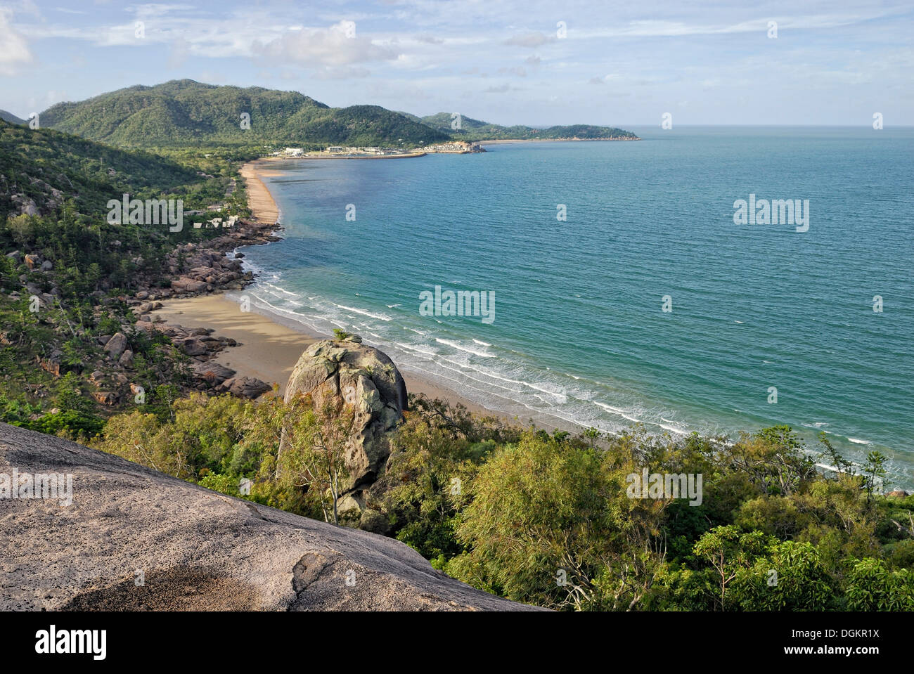 Rocky Bay, Nelly Bay and Geoffrey Bay, Magnetic Island, Queensland, Australia - Stock Image
