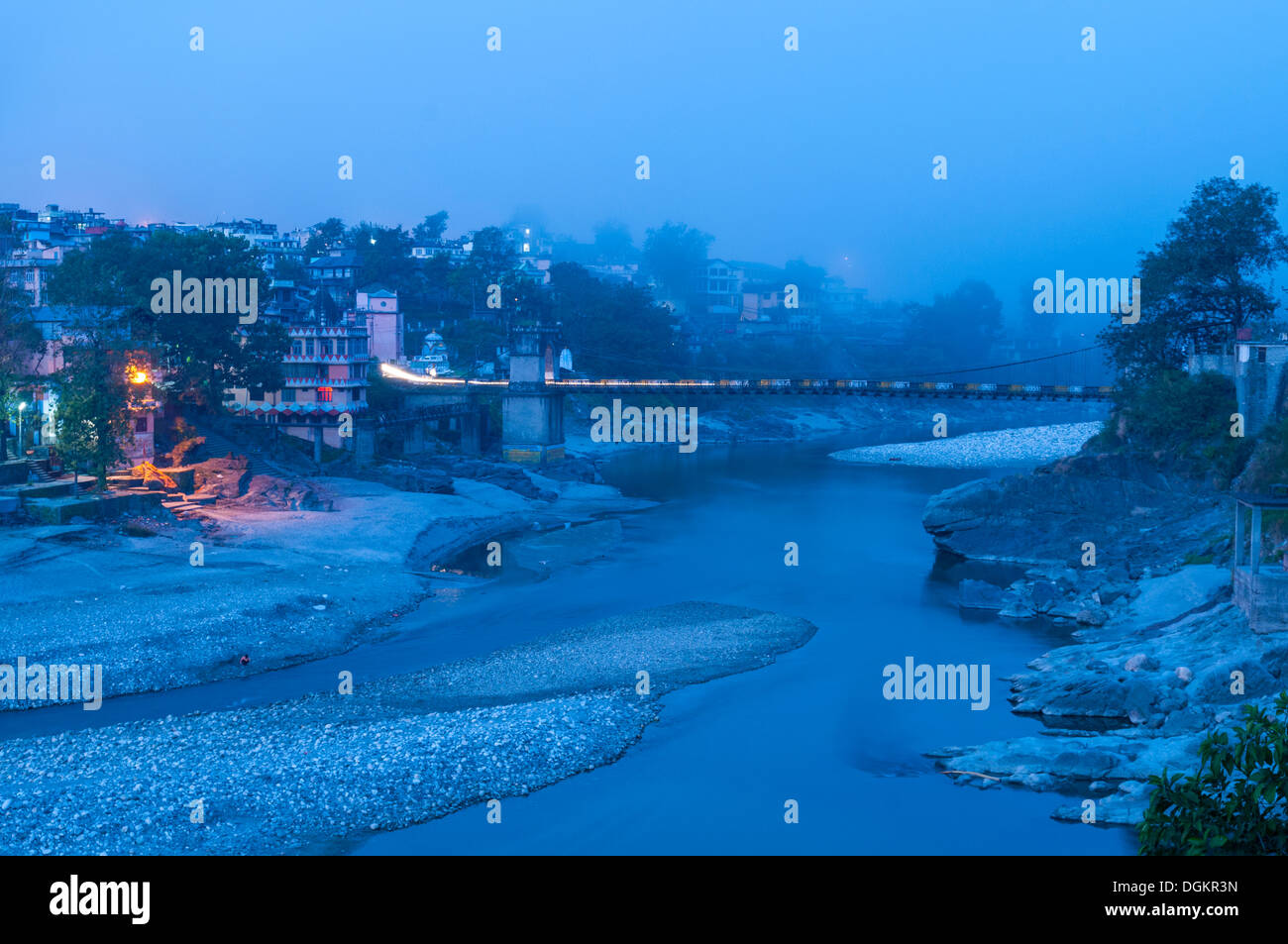 Bridge over River Beas. - Stock Image