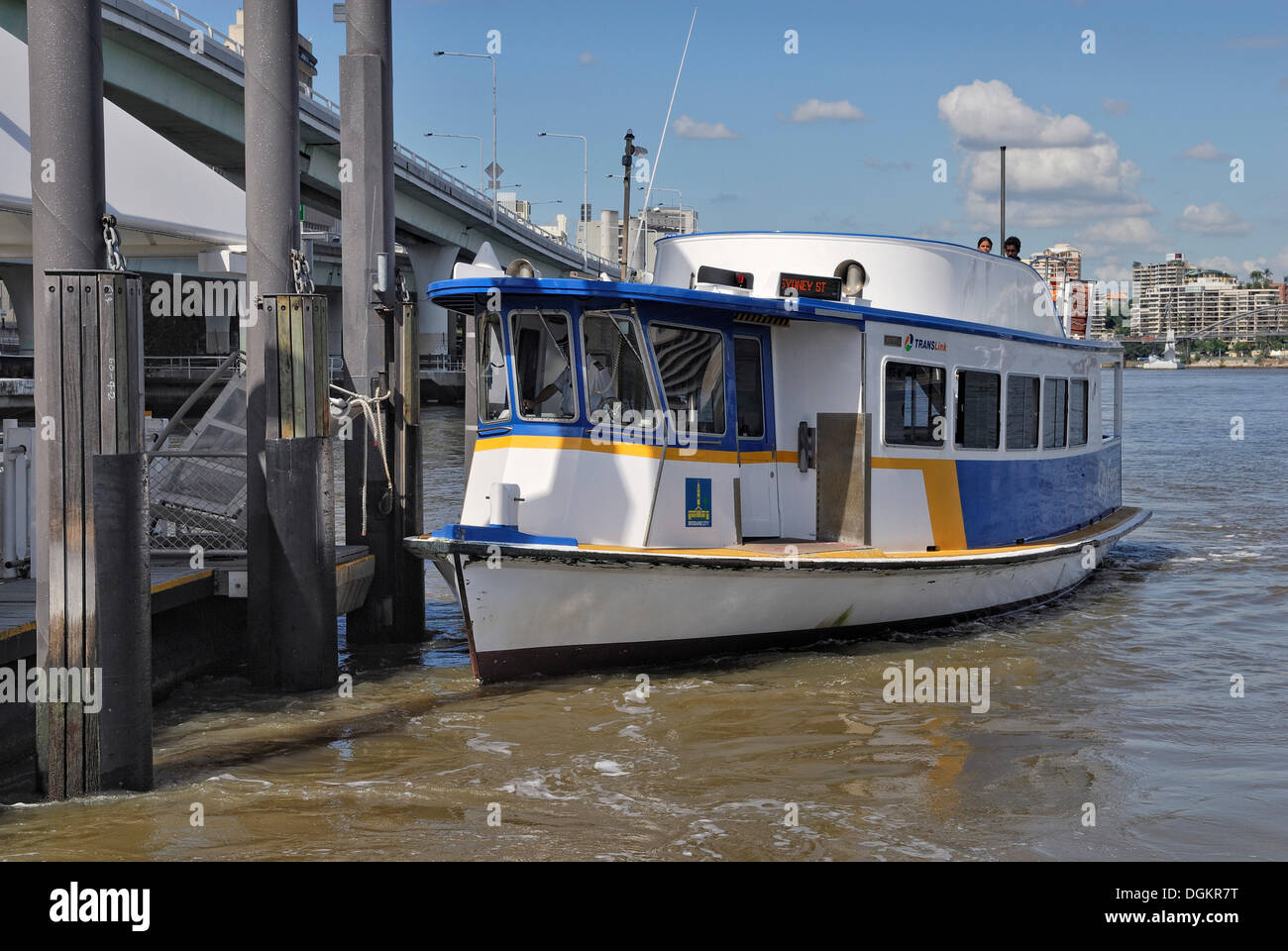 Trans Link ferry, Brisbane River, Brisbane, Queensland, Australia - Stock Image