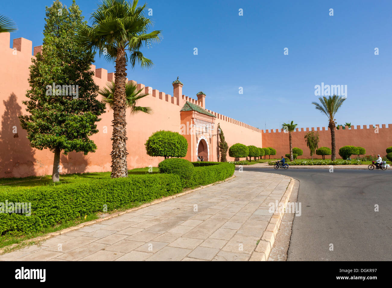 The city wall of Marrakech. - Stock Image