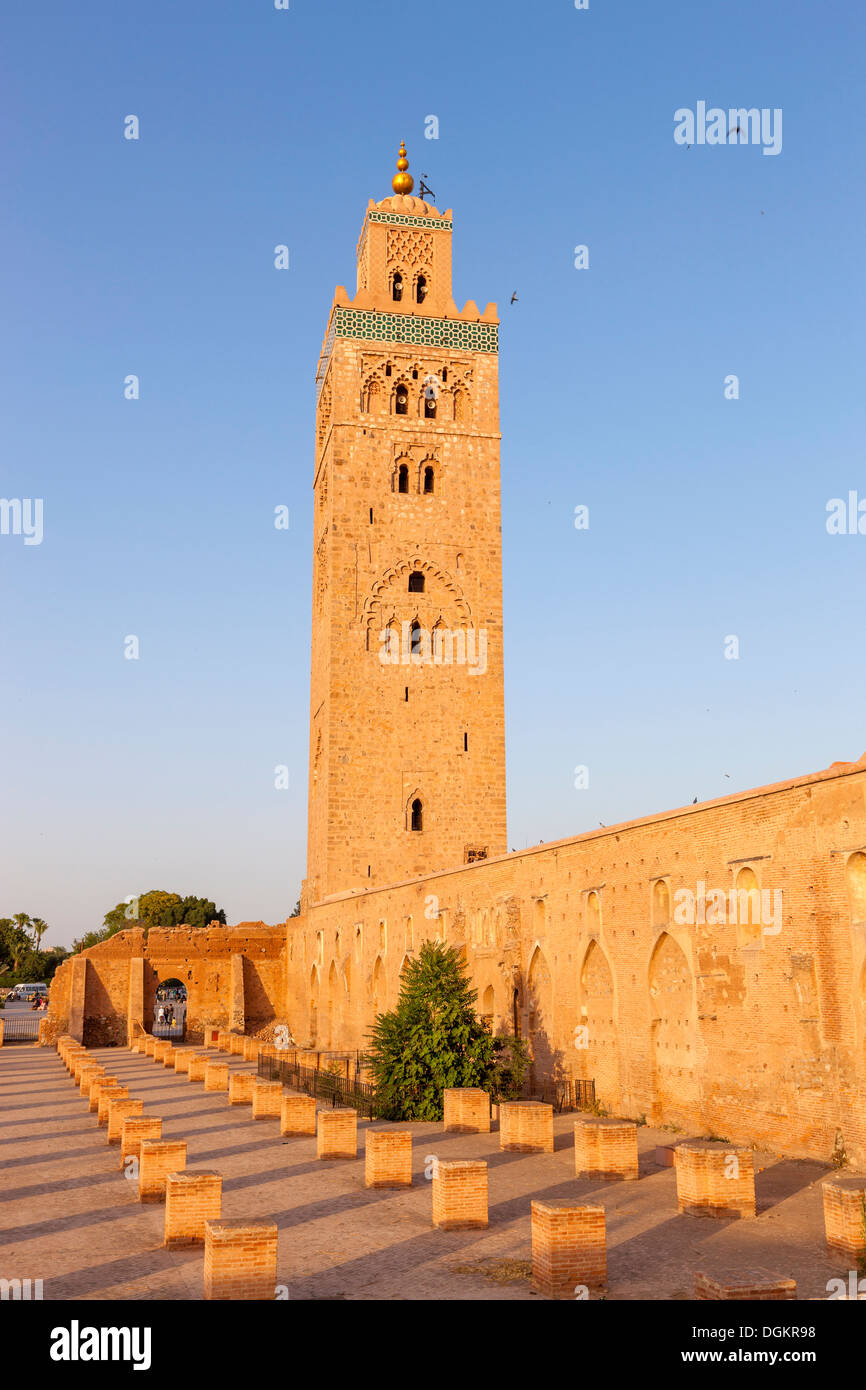 Koutoubia mosque and minaret in Marrakesh. - Stock Image