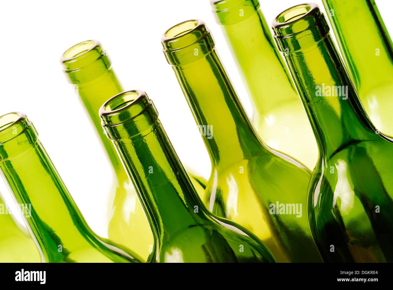 Empty bottles, recycling Stock Photo