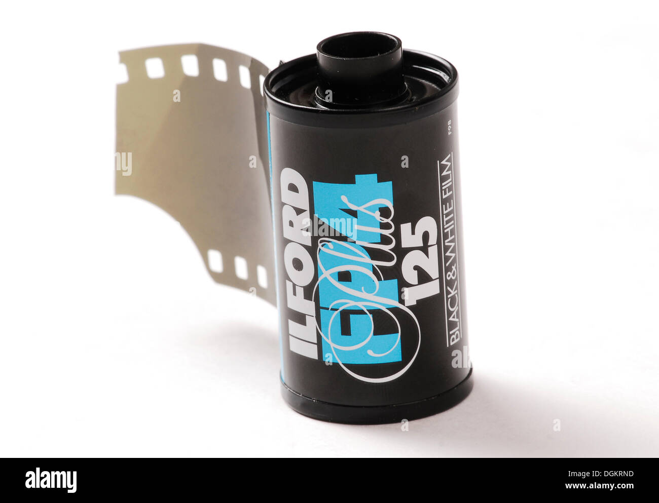 Roll of black and white film, analog photography - Stock Image