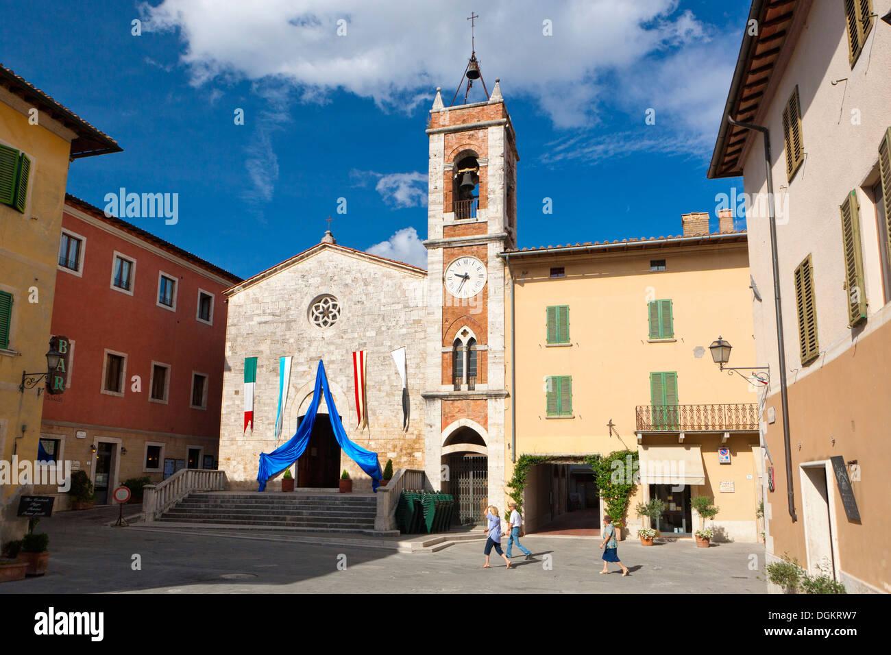 A view to Piazza della Liberta and Chiesa di San Francesco. Stock Photo