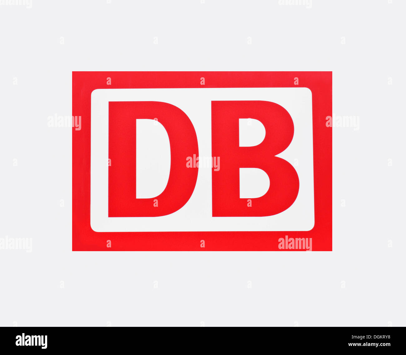 DB, Deutsche Bahn, German railways, logo - Stock Image