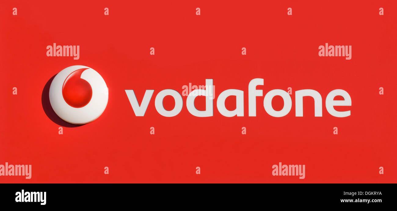Logo, Vodafone Group - Stock Image