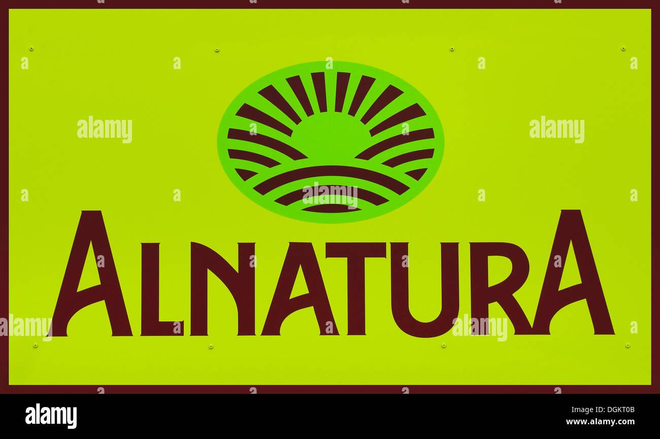 Alnatura logo, health-food store, food, natural textiles - Stock Image