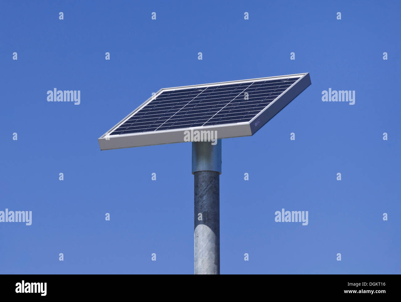 Solar cells on a pole - Stock Image