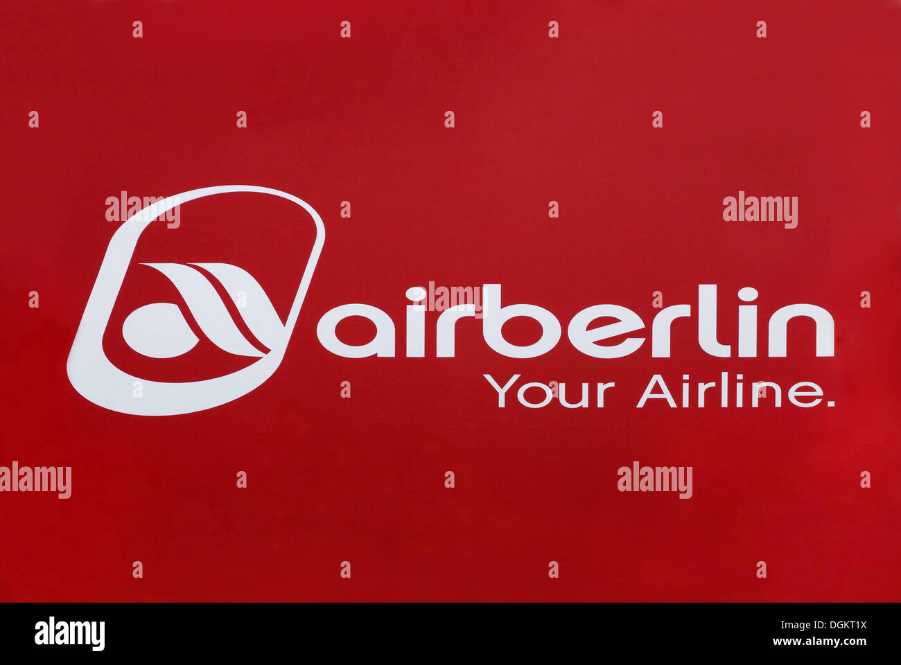 Logo, Airberlin Your Airline, German airline company - Stock Image