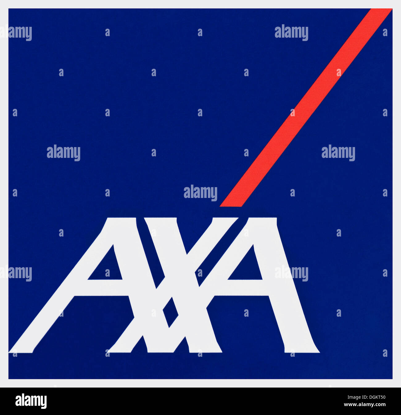 Logo of the AXA insurance, Cologne - Stock Image