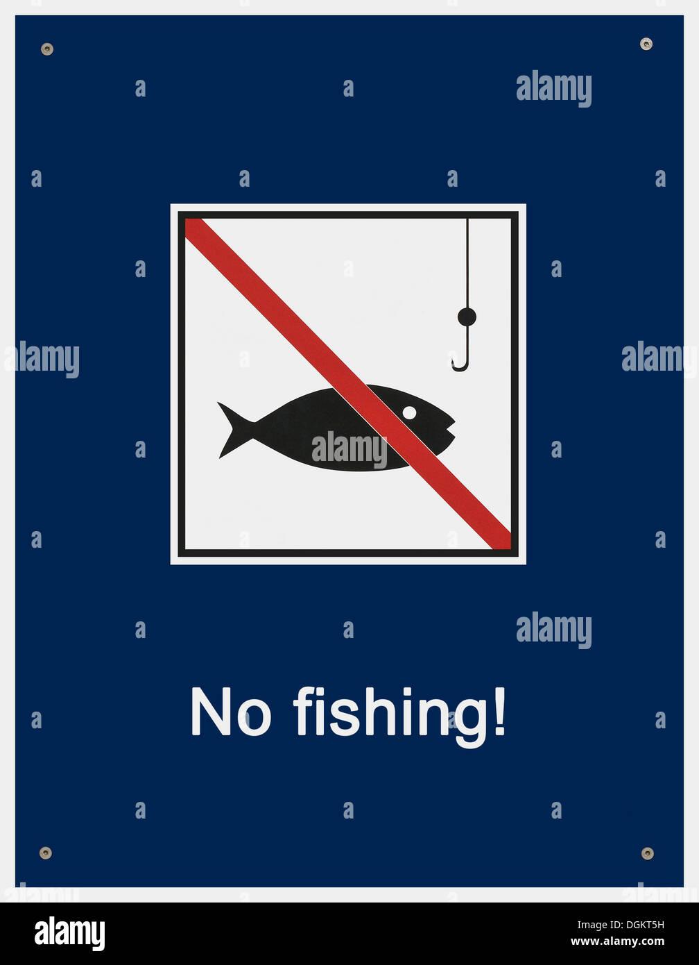 Sign, No fishing! - Stock Image