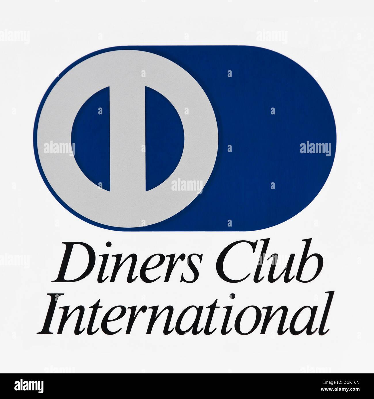 Logo, Diners Club International, credit card company Stock Photo