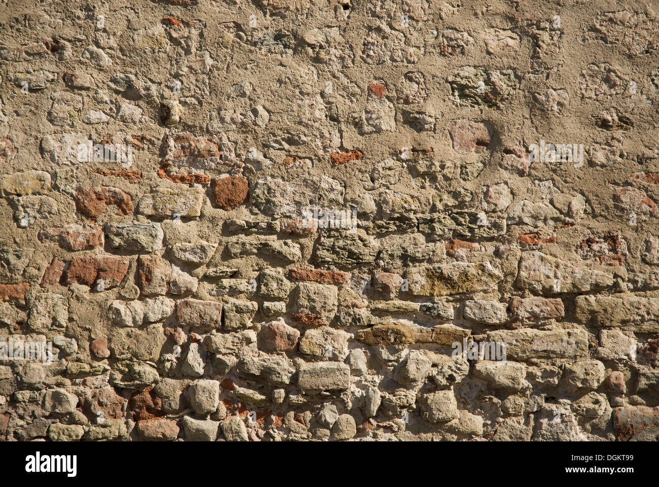 Repaired brick wall, background - Stock Image