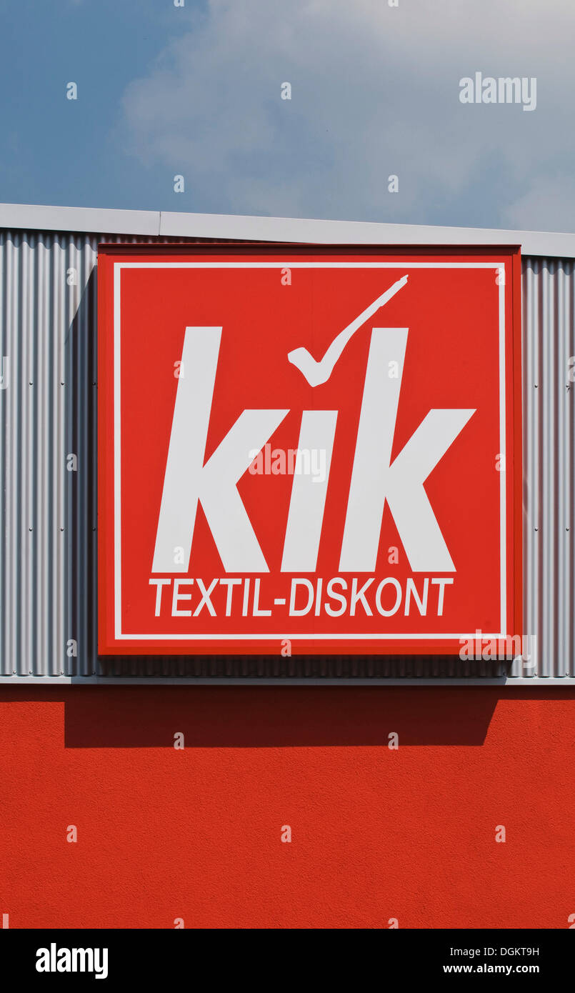 Logo, KIK Textil-discount, KIK Textilien and Non-Food GmbH - Stock Image
