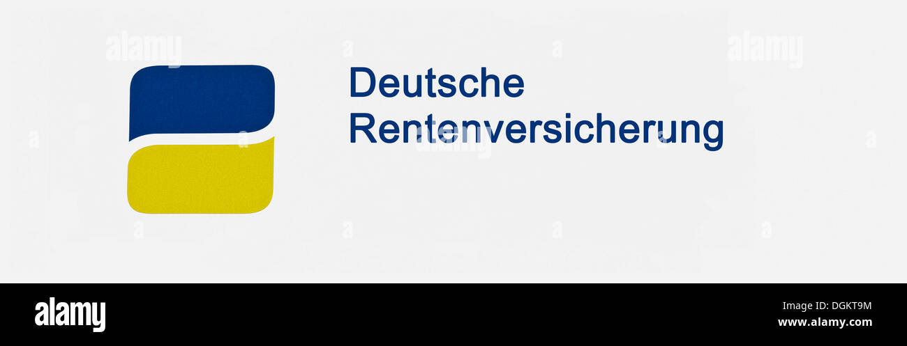 Deutsche Rentenversicherung, German pension insurance, lettering with logo - Stock Image