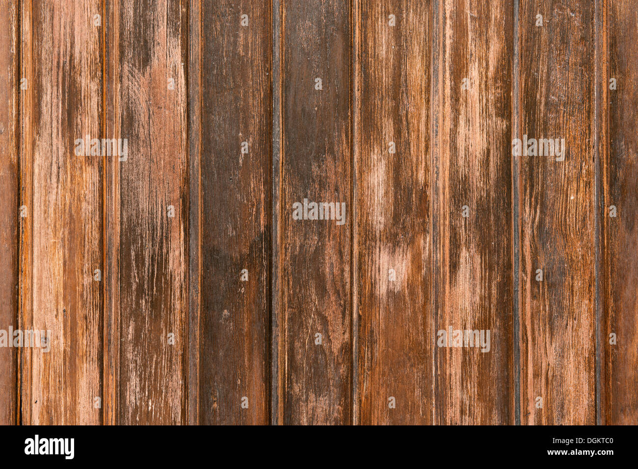 Weathered wooden wall - Stock Image