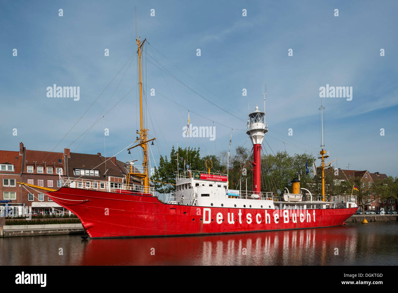 Museum Ship 'Deutsche Bucht', Emden, Ratsdelft, East Frisia, Lower Saxony - Stock Image