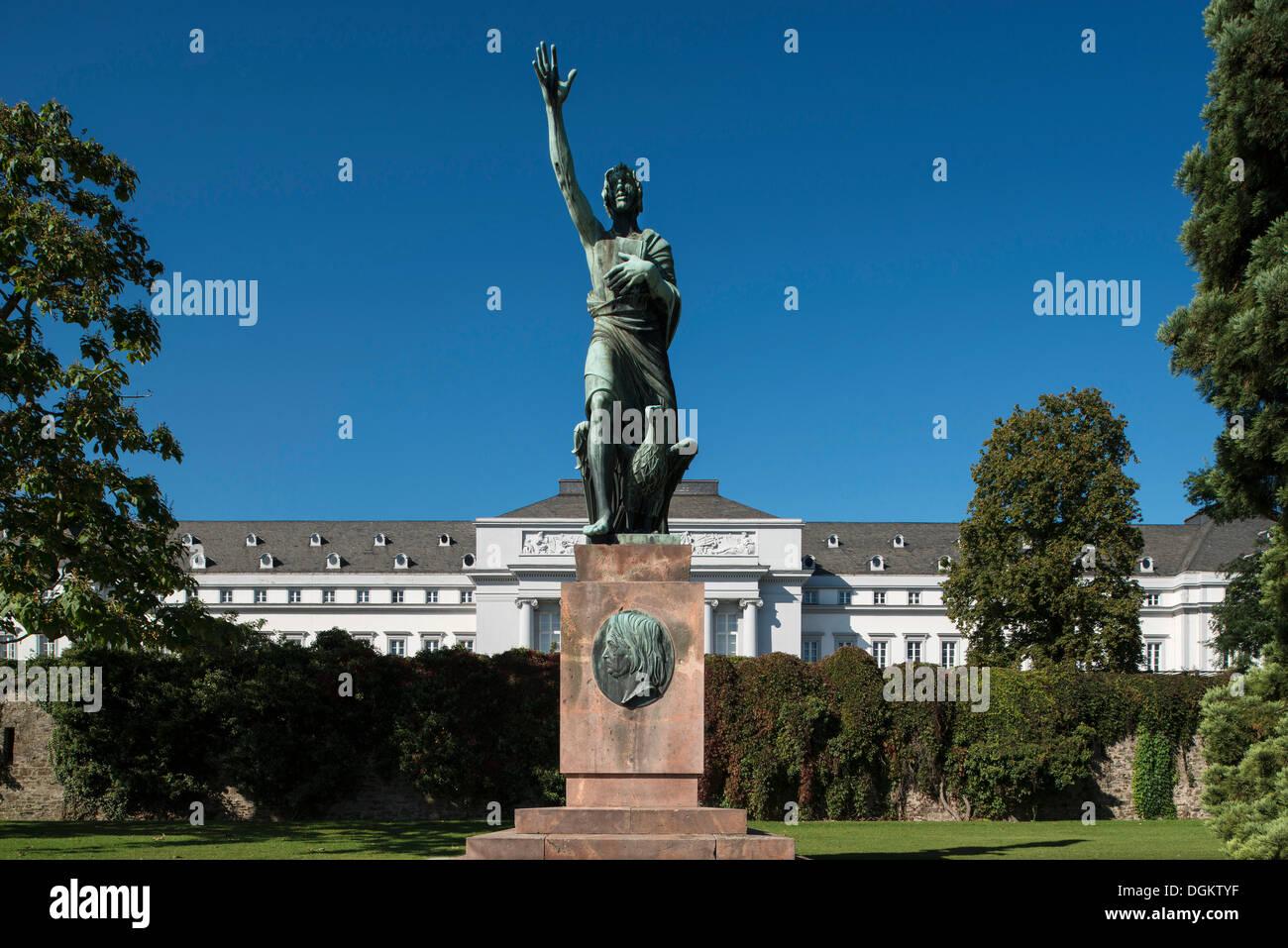 Gorres Monument, publicist Joseph Gorres, behind the Electoral Palace, UNESCO World Heritage Site, Koblenz, Rhineland-Palatinate - Stock Image