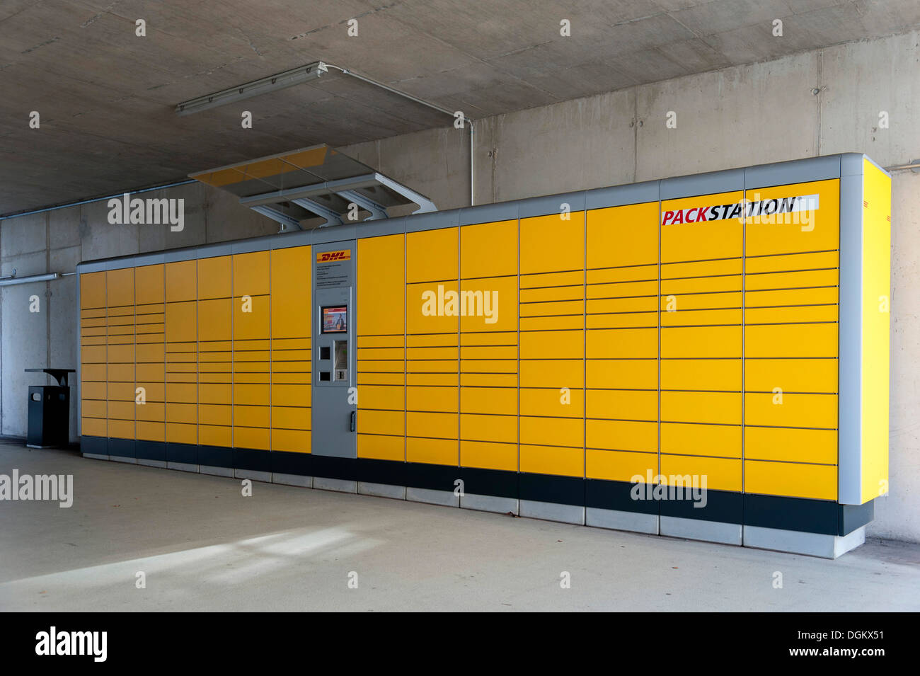 dhl packstation automated booths for self service for collection and stock photo 61903213 alamy. Black Bedroom Furniture Sets. Home Design Ideas