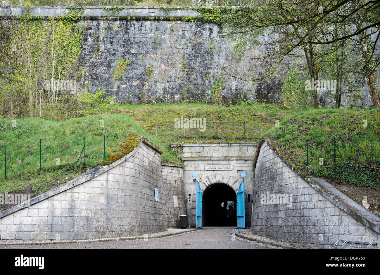 Entrance to the museum experience at the fortress of Verdun, Verdun, France, Europe - Stock Image