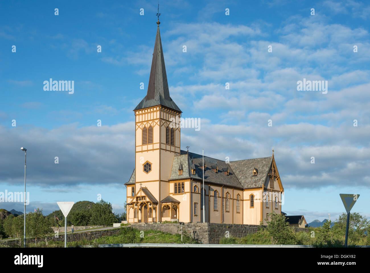 Church of Kabelvåg, Kabelvåg, Insel Vestvågøy, Lofoten, Nordland, Northern Norway, Norway - Stock Image