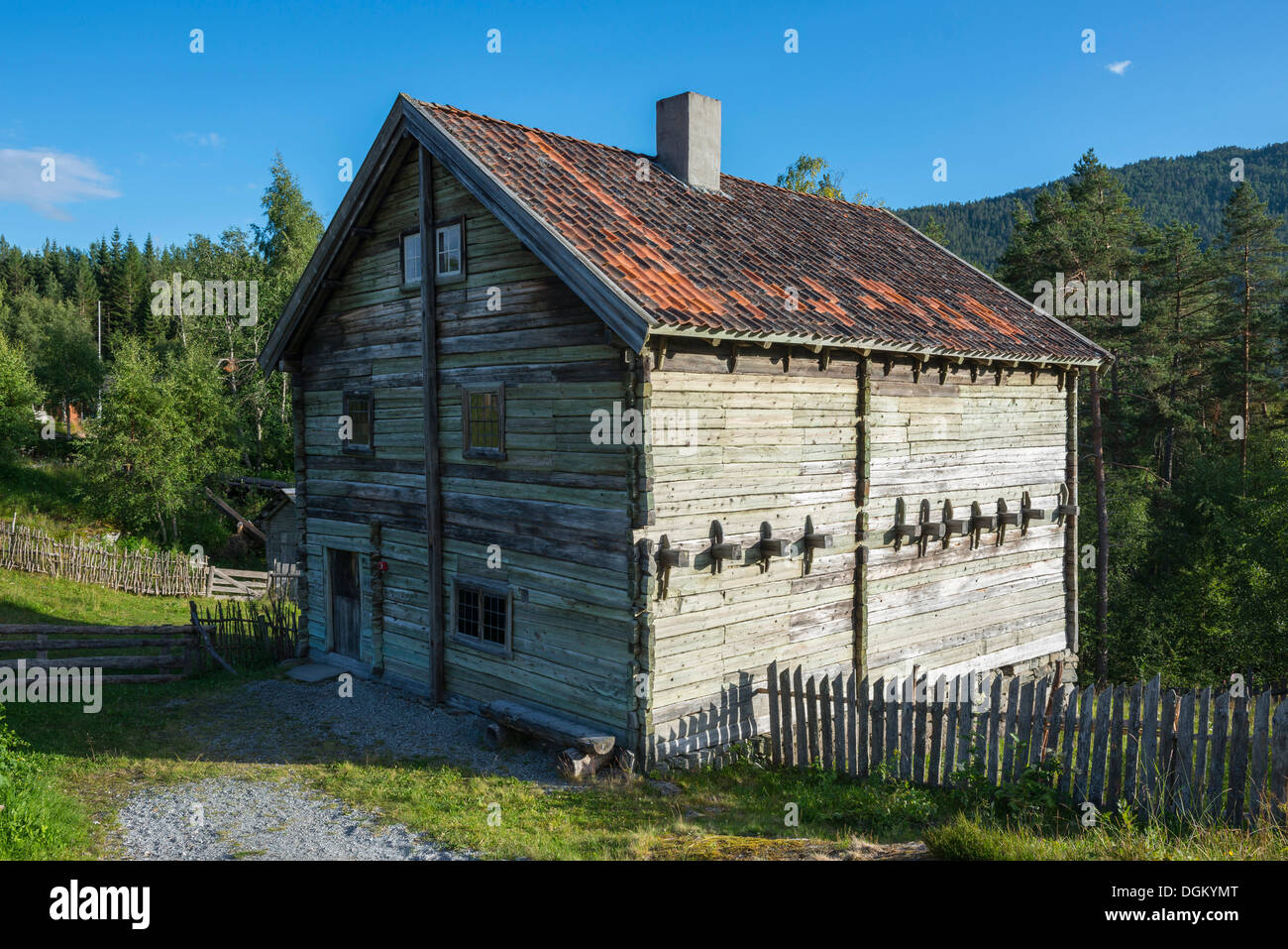 Leirmohaus, 1793, Sogn Folk Museum, open-air museum, Kaupanger, Sogndal, Sogn og Fjordane, Western Norway, Norway - Stock Image
