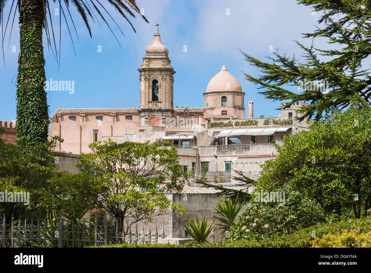 Church of San Giuliano, Felsenstadt Erice, Provinz Trapan, Sicily, Italy - Stock Image