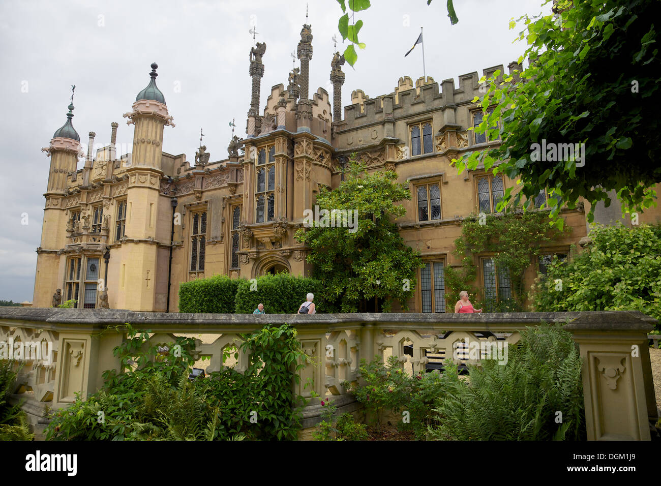 Knebworth House, Hertfordshire, England, home of the Lytton family since 1490. - Stock Image