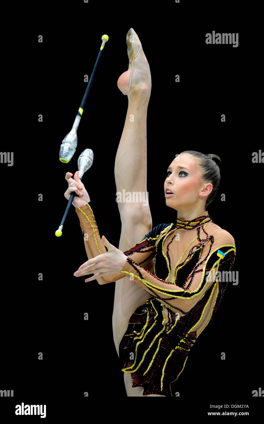 Rhythmic gymnastics, Viktoria SHYNKARENKO, UKR, Ukraine Stock Photo