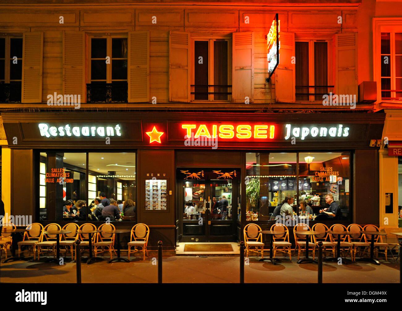 paris france japanese restaurant night stock photos paris france