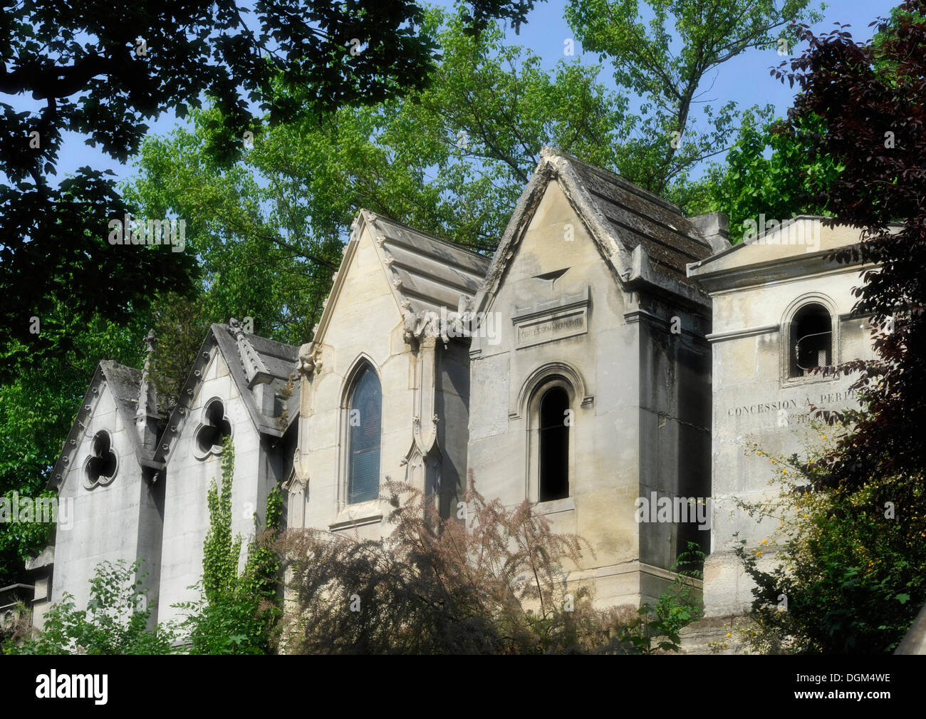 Pere Lachaise Cemetery, Paris, France, Europe Stock Photo