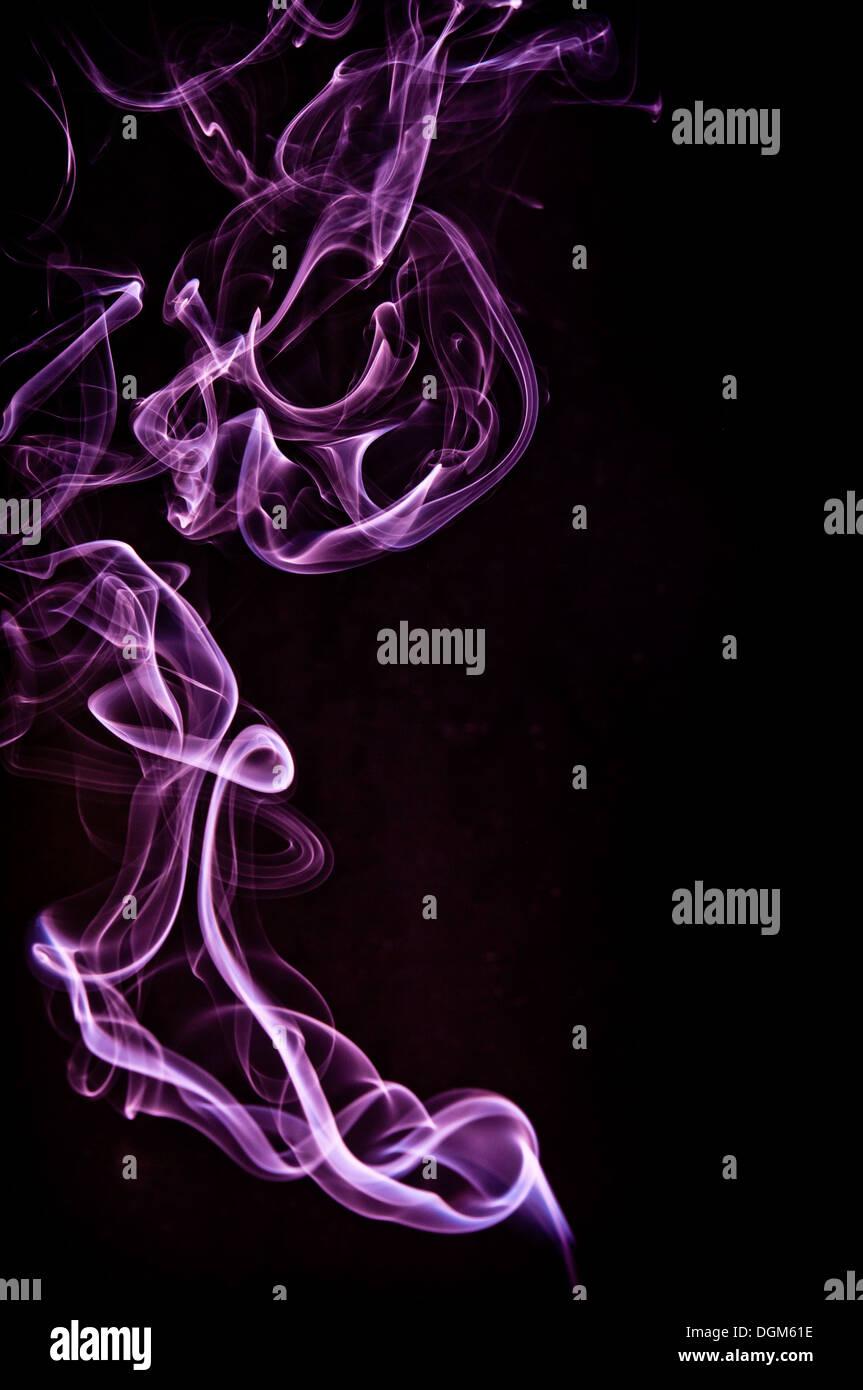 purple smoke - Stock Image