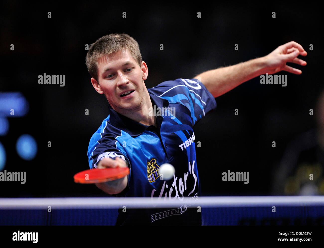 Bastian Steger, table tennis cup finals, Porsche Arena, Stuttgart, Baden-Wuerttemberg - Stock Image