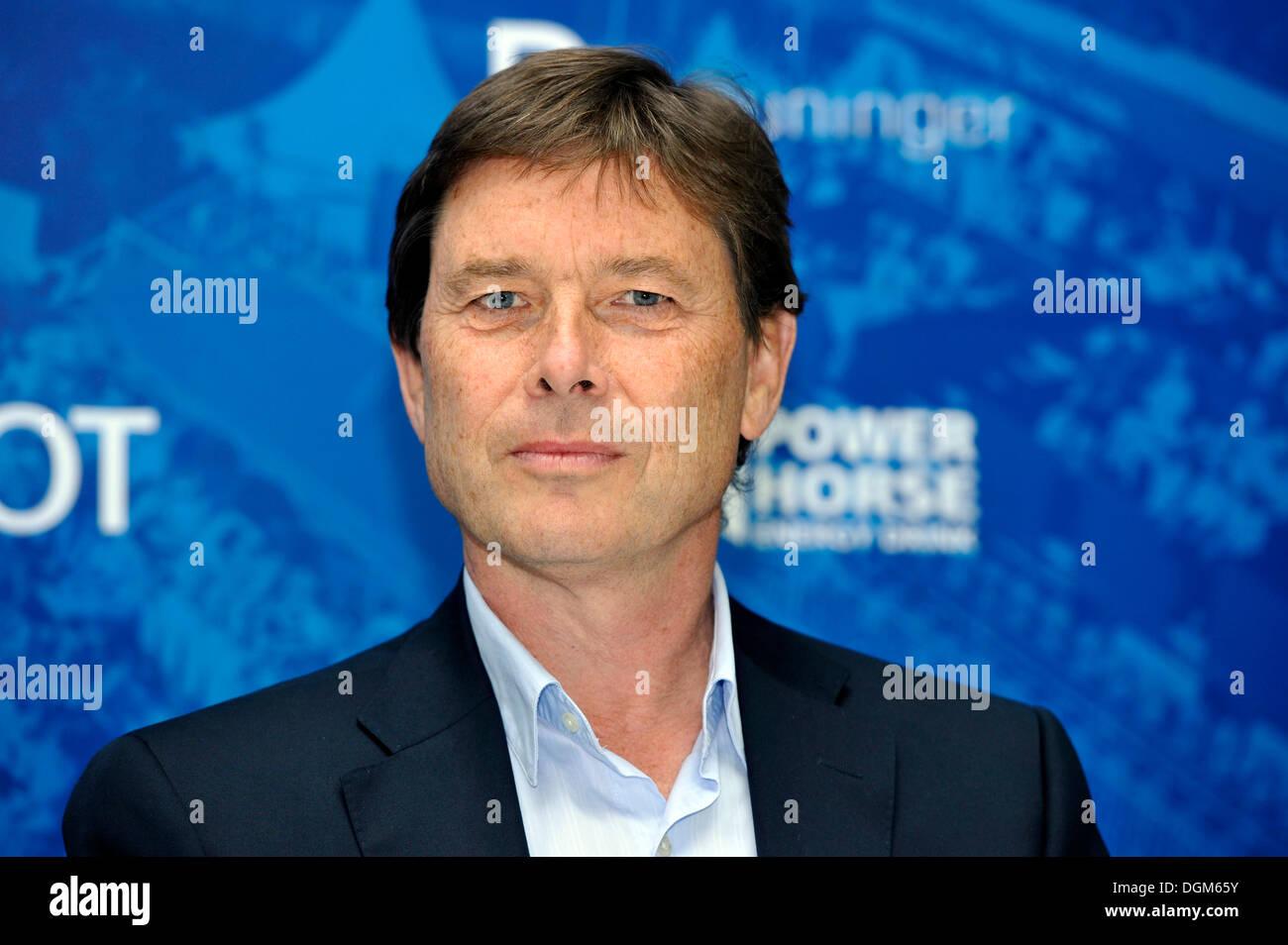 ATP World Tour Manager Laurent Dellaney, press conference, tennis, Mercedes Cup 2012 - Weissenhof, Stuttgart, Baden-Wuerttemberg - Stock Image