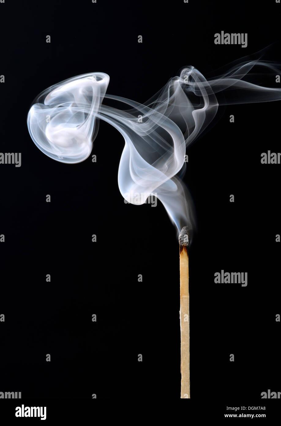 Smoke from a match - Stock Image