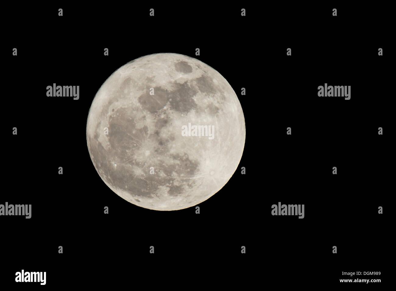 Full moon, northern hemisphere - Stock Image