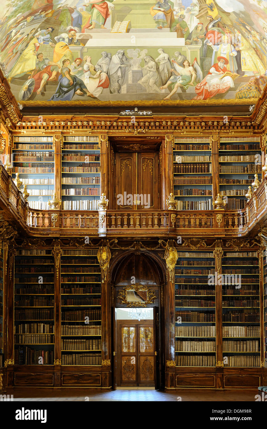 Philosophical Hall of the library, Strahov Abbey, Czech Republic, Europe - Stock Image