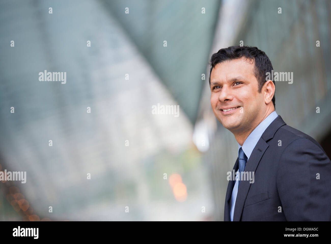Business people. A latino businessman in business clothes. - Stock Image