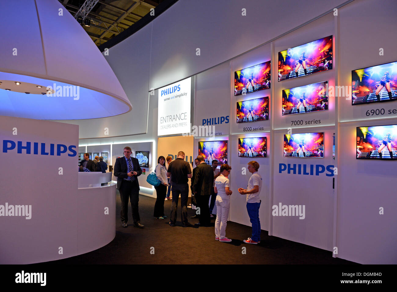 Flat screens made by Philips at the Internationale Funkausstellung, IFA, 2012, Berlin - Stock Image