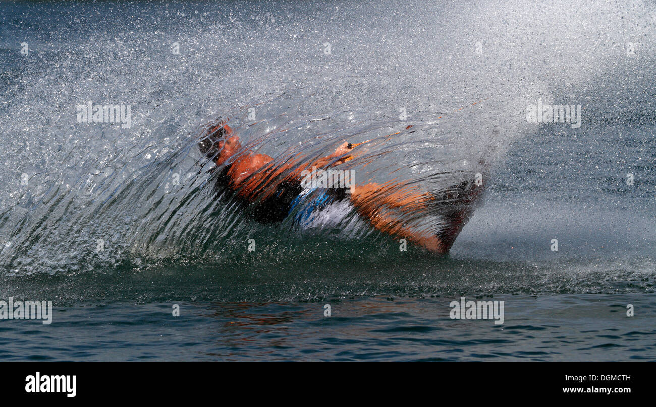 Wakeboard surfer on the Nordstrand lake in Erfurt, Thuringia - Stock Image