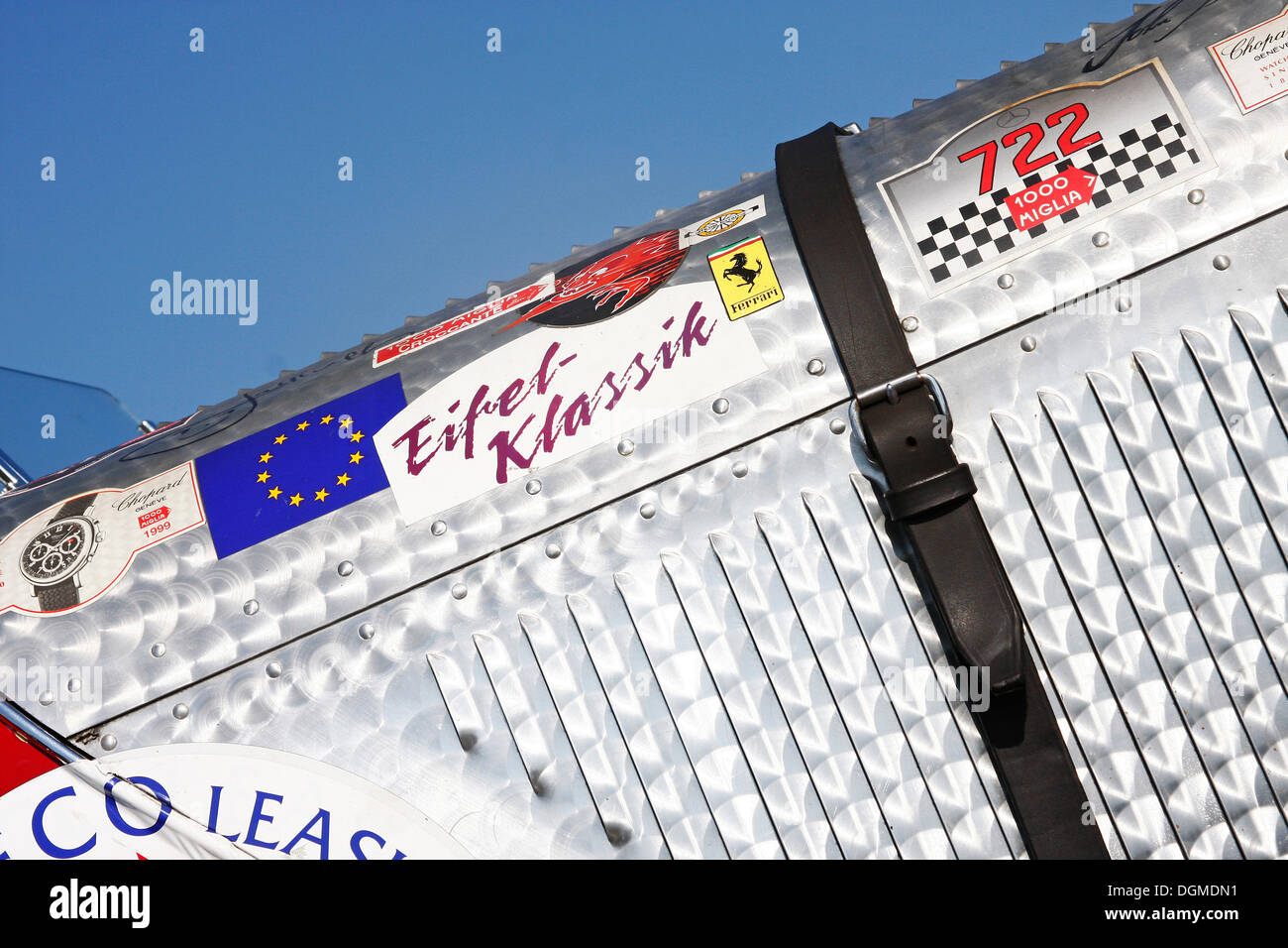 Hood of a Mercedes-Benz SSK, rarity, Eifelrennen 2009 race, Nurburgring race track, Rhineland-Palatinate - Stock Image
