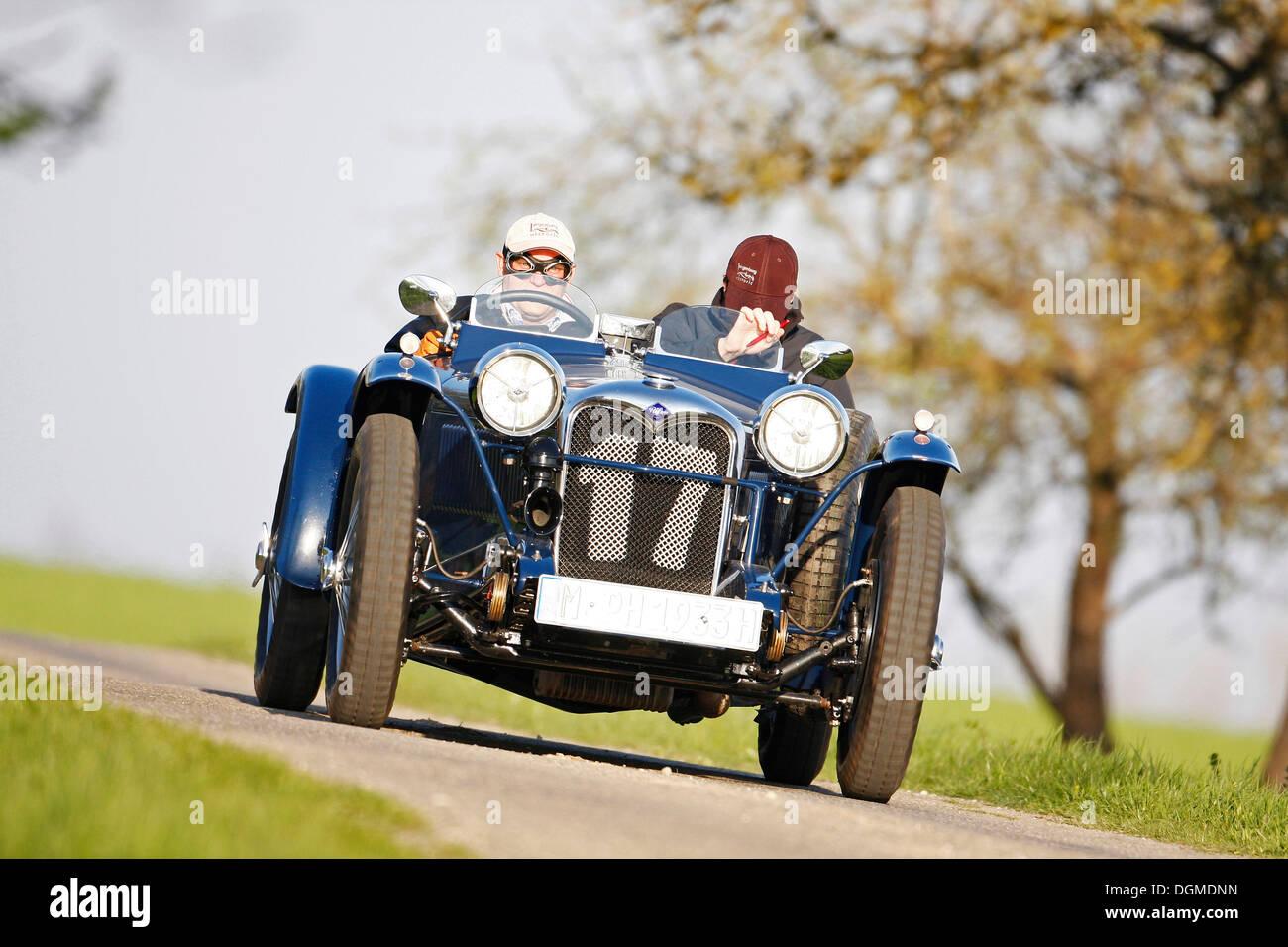 Riley Racing MPH, built in 1933, classic car, Langenburg Historic 2010, Langenburg, Baden-Wuerttemberg - Stock Image