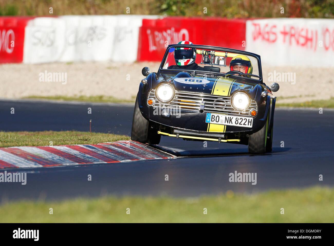 Triumph TR 4 A, Eifelrennen 2008 race, Nordschleife, Nurburgring race track, Rhineland-Palatinate - Stock Image