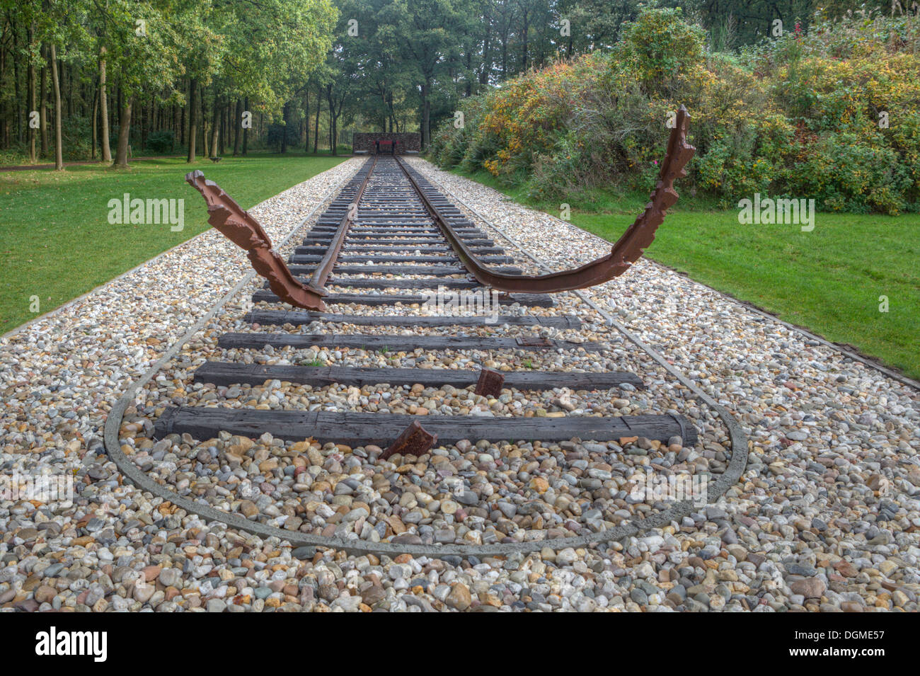 National Monument in Camp Westerbork, Netherlands - Stock Image
