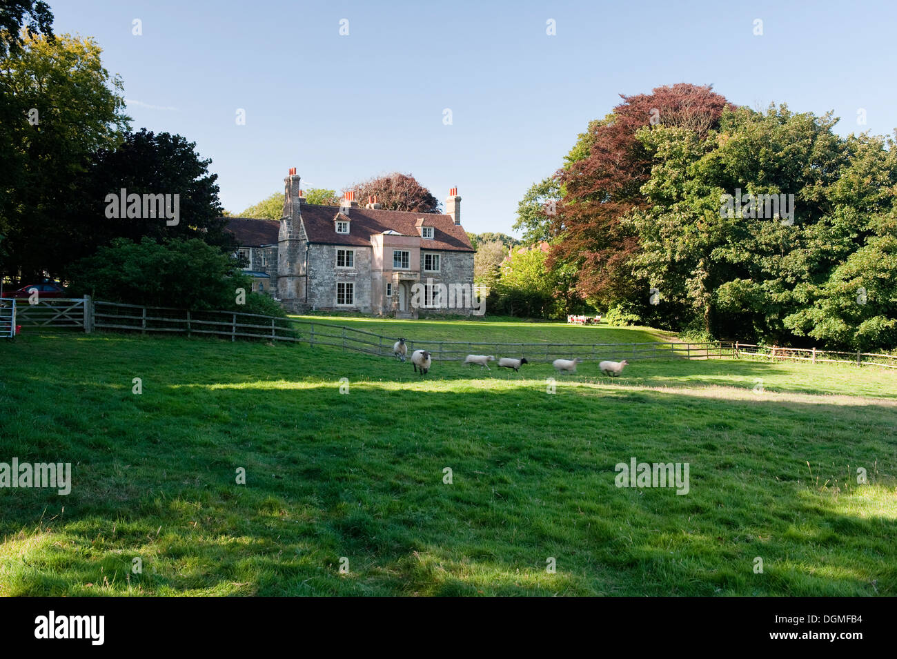 17th century house on the English south coast - Stock Image