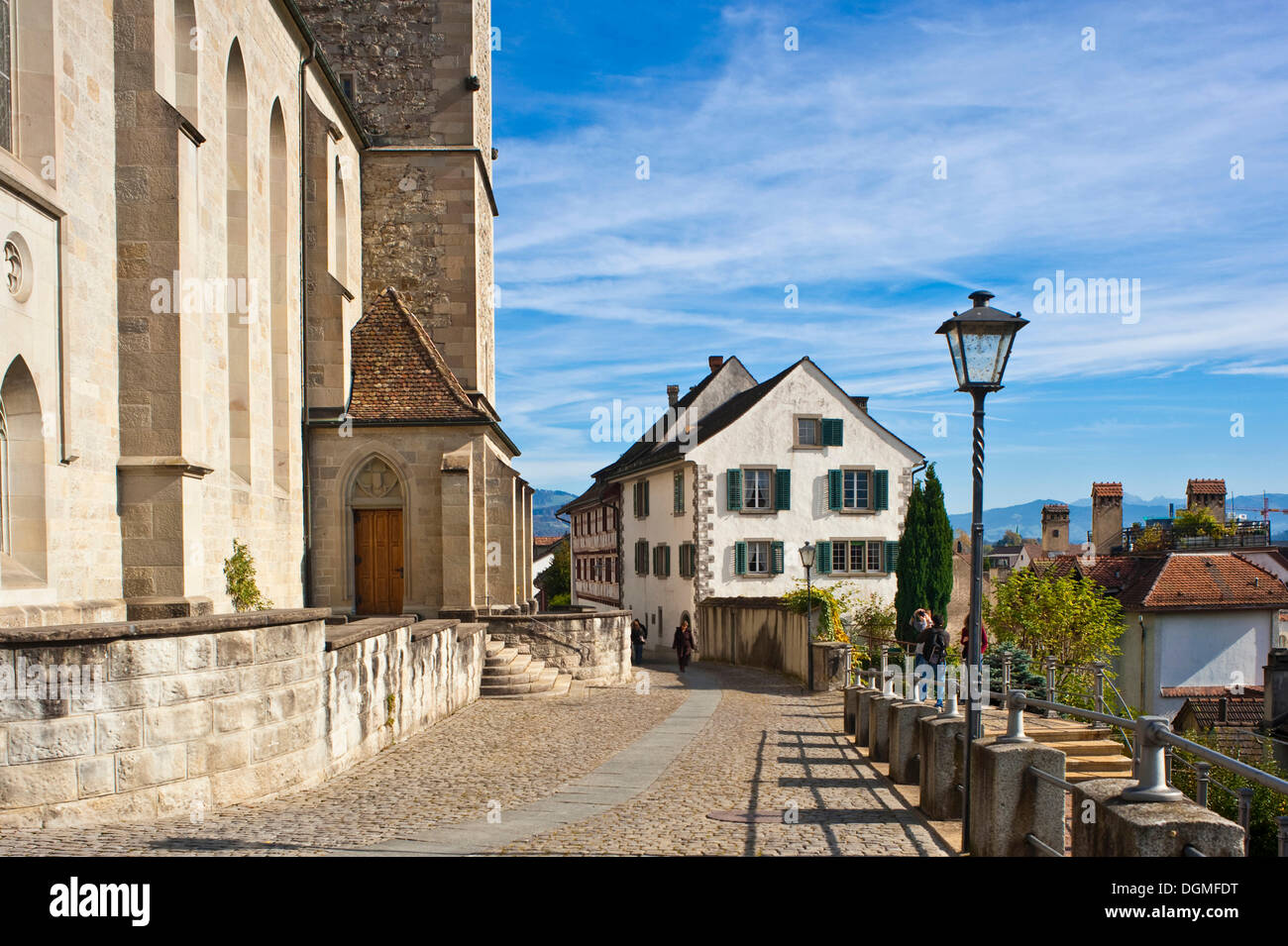 Stadtpfarrkirche parish church, Rapperswil, Sankt Gallen, Switzerland, Europe - Stock Image