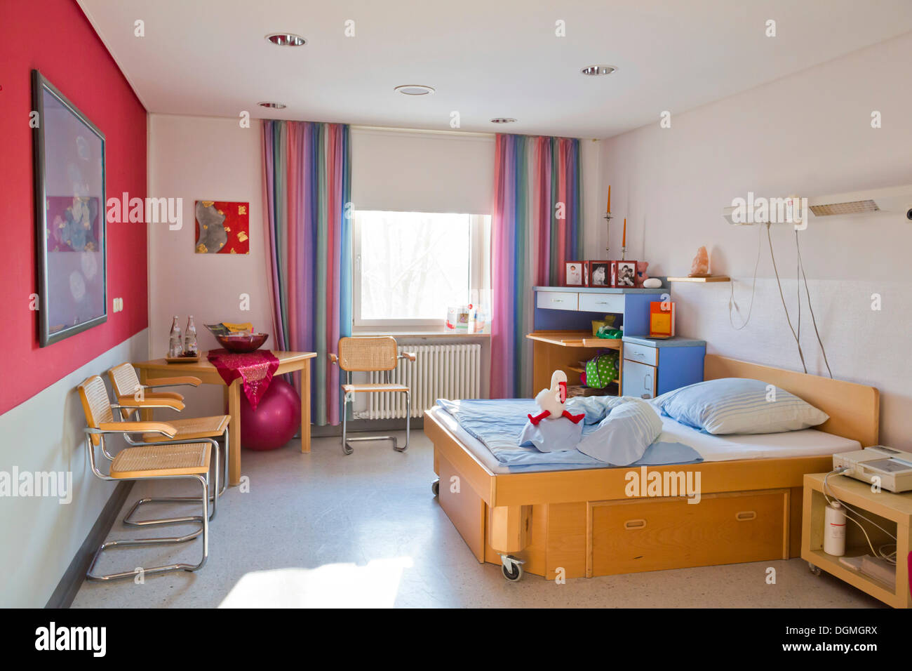 Family room rest room in a maternity ward Germany Stock Photo