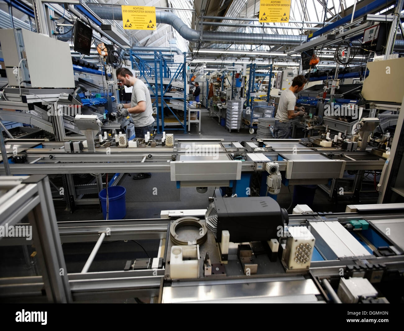 Production of Airtronic vehicle pre-heaters at J. Eberspaecher GmbH & Co. KG, Esslingen, Baden-Wuerttemberg - Stock Image